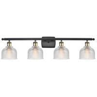 Innovations Lighting 516-4W-BAB-G412-LED Dayton LED 36 inch Black Antique Brass Bath Vanity Light Wall Light Ballston