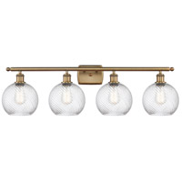 Innovations Lighting 516-4W-BB-G1214-8 Twisted Swirl 4 Light 36 inch Brushed Brass Bath Vanity Light Wall Light Ballston