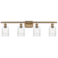 Innovations Lighting 516-4W-BB-G342-LED Hadley LED 36 inch Brushed Brass Bath Vanity Light Wall Light Ballston
