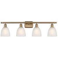 Innovations Lighting 516-4W-BB-G381-LED Castile LED 36 inch Brushed Brass Bath Vanity Light Wall Light Ballston