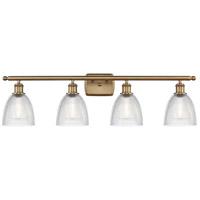 Innovations Lighting 516-4W-BB-G382-LED Castile LED 36 inch Brushed Brass Bath Vanity Light Wall Light Ballston