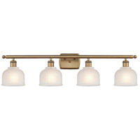 Innovations Lighting 516-4W-BB-G411-LED Dayton LED 36 inch Brushed Brass Bath Vanity Light Wall Light Ballston