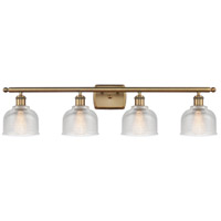 Innovations Lighting 516-4W-BB-G412-LED Dayton LED 36 inch Brushed Brass Bath Vanity Light Wall Light Ballston