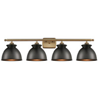 Innovations Lighting 516-4W-BB-M14-BK Adirondack 4 Light 38 inch Brushed Brass Bath Vanity Light Wall Light Ballston