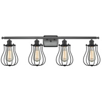 Innovations Lighting 516-4W-BK-513-LED Barrington LED 36 inch Matte Black Bath Vanity Light Wall Light, Austere