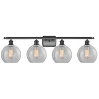 Innovations Lighting 516-4W-BK-G125-LED Athens LED 36 inch Matte Black Bath Vanity Light Wall Light Ballston