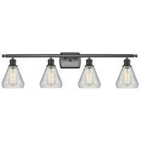 Innovations Lighting 516-4W-BK-G275 Conesus 4 Light 36 inch Matte Black Bath Vanity Light Wall Light Ballston