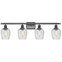 Innovations Lighting 516-4W-BK-G292 Salina 4 Light 36 inch Matte Black Bath Vanity Light Wall Light Ballston