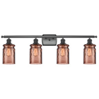 Innovations Lighting 516-4W-BK-G352-TOF Candor 4 Light 36 inch Matte Black Bath Vanity Light Wall Light Ballston