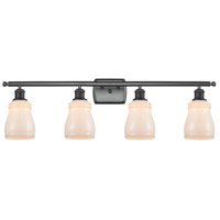 Innovations Lighting 516-4W-BK-G391-LED Ellery LED 36 inch Matte Black Bath Vanity Light Wall Light Ballston