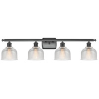 Innovations Lighting 516-4W-BK-G412-LED Dayton LED 36 inch Matte Black Bath Vanity Light Wall Light Ballston