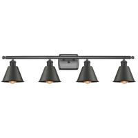 Innovations Lighting 516-4W-BK-M8 Smithfield 4 Light 36 inch Matte Black Bath Vanity Light Wall Light Ballston