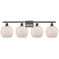 Innovations Lighting 516-4W-OB-G121-8RW Farmhouse Rope 4 Light 36 inch Oil Rubbed Bronze Bath Vanity Light Wall Light Ballston