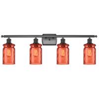 Innovations Lighting 516-4W-OB-G352-COR Candor 4 Light 36 inch Oil Rubbed Bronze Bath Vanity Light Wall Light Ballston