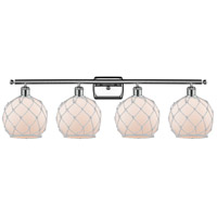 Innovations Lighting 516-4W-PC-G121-8RW Farmhouse Rope 4 Light 36 inch Polished Chrome Bath Vanity Light Wall Light Ballston