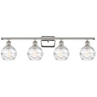 Innovations Lighting 516-4W-PN-G1213-6-LED Small Deco Swirl LED 36 inch Polished Nickel Bath Vanity Light Wall Light Ballston