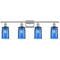 Innovations Lighting 516-4W-PN-G352-BL Candor 4 Light 36 inch Polished Nickel Bath Vanity Light Wall Light Ballston