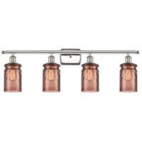 Innovations Lighting 516-4W-PN-G352-TOF Candor 4 Light 36 inch Polished Nickel Bath Vanity Light Wall Light Ballston