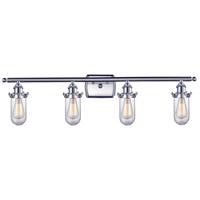 Innovations Lighting 516-4W-SN-232-CL Kingsbury 4 Light 36 inch Brushed Satin Nickel Bathroom Fixture Wall Light