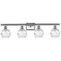 Innovations Lighting 516-4W-SN-G1213-6-LED Small Deco Swirl LED 36 inch Satin Nickel Bath Vanity Light Wall Light Ballston