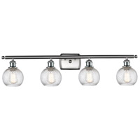 Innovations Lighting 516-4W-SN-G1214-6-LED Small Twisted Swirl LED 36 inch Satin Nickel Bath Vanity Light Wall Light Ballston