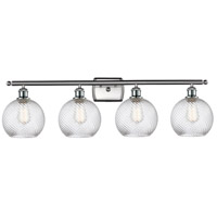 Innovations Lighting 516-4W-SN-G1214-8 Twisted Swirl 4 Light 36 inch Satin Nickel Bath Vanity Light Wall Light Ballston