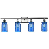 Innovations Lighting 516-4W-SN-G352-BL Candor 4 Light 36 inch Satin Nickel Bath Vanity Light Wall Light Ballston