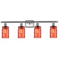 Innovations Lighting 516-4W-SN-G352-COR Candor 4 Light 36 inch Satin Nickel Bath Vanity Light Wall Light Ballston