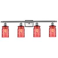 Innovations Lighting 516-4W-SN-G352-RD Candor 4 Light 36 inch Satin Nickel Bath Vanity Light Wall Light Ballston