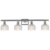 Innovations Lighting 516-4W-SN-G412-LED Dayton LED 36 inch Satin Nickel Bath Vanity Light Wall Light Ballston