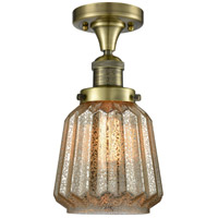 Chatham LED 6 inch Antique Brass Flush Mount Ceiling Light