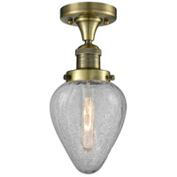 Innovations Lighting 517-1CH-AB-G165 Signature 1 Light 7 inch Antique Brass Flush Mount Ceiling Light