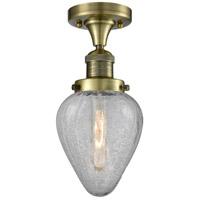 Innovations Lighting 517-1CH-AB-G165-LED Geneseo LED 7 inch Antique Brass Semi-Flush Mount Ceiling Light Franklin Restoration