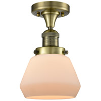 Innovations Lighting 517-1CH-AB-G171 Fulton 1 Light 7 inch Antique Brass Flush Mount Ceiling Light