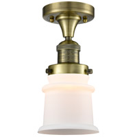 Innovations Lighting 517-1CH-AB-G181S-LED Small Canton LED 6 inch Antique Brass Semi-Flush Mount Ceiling Light Franklin Restoration