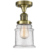 Canton LED 6 inch Antique Brass Flush Mount Ceiling Light