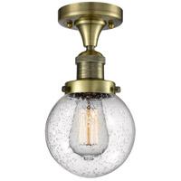 Innovations Lighting 517-1CH-AB-G204-6-LED Beacon LED 6 inch Antique Brass Flush Mount Ceiling Light