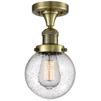 Innovations Lighting 517-1CH-AB-G204-6 Beacon 1 Light 6 inch Antique Brass Flush Mount Ceiling Light