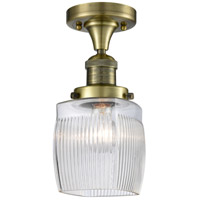 Innovations Lighting 517-1CH-AB-G302 Colton 1 Light 6 inch Antique Brass Semi-Flush Mount Ceiling Light Franklin Restoration