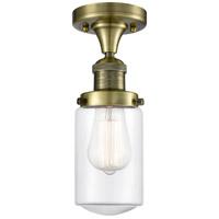 Innovations Lighting 517-1CH-AB-G312-LED Dover LED 5 inch Antique Brass Semi-Flush Mount Ceiling Light Franklin Restoration