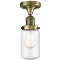 Innovations Lighting 517-1CH-AB-G314-LED Dover LED 5 inch Antique Brass Semi-Flush Mount Ceiling Light Franklin Restoration