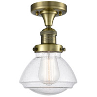 Innovations Lighting 517-1CH-AB-G324 Olean 1 Light 7 inch Antique Brass Semi-Flush Mount Ceiling Light Franklin Restoration