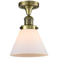 Innovations Lighting 517-1CH-AB-G41 Signature 1 Light 8 inch Antique Brass Flush Mount Ceiling Light, Large, Cone