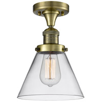 Innovations Lighting 517-1CH-AB-G42-LED Large Cone LED 8 inch Antique Brass Flush Mount Ceiling Light