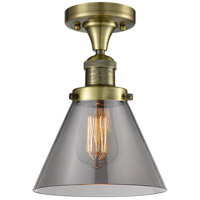 Innovations Lighting 517-1CH-AB-G43 Signature 1 Light 8 inch Antique Brass Flush Mount Ceiling Light, Large, Cone
