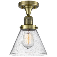 Innovations Lighting 517-1CH-AB-G44 Signature 1 Light 8 inch Antique Brass Flush Mount Ceiling Light, Large, Cone
