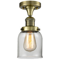 Innovations Lighting 517-1CH-AB-G52 Signature 1 Light 5 inch Antique Brass Flush Mount Ceiling Light, Small, Bell