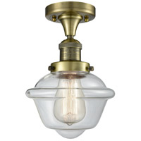 Innovations Lighting 517-1CH-AB-G532-LED Small Oxford LED 8 inch Antique Brass Flush Mount Ceiling Light
