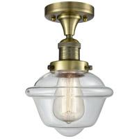 Innovations Lighting 517-1CH-AB-G532-LED Small Oxford LED 8 inch Antique Brass Semi-Flush Mount Ceiling Light Franklin Restoration