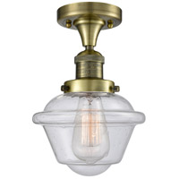 Innovations Lighting 517-1CH-AB-G534 Small Oxford 1 Light 8 inch Antique Brass Semi-Flush Mount Ceiling Light Franklin Restoration